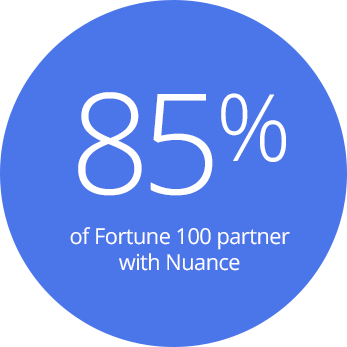 85% of Fortune 100 partner with Nuance